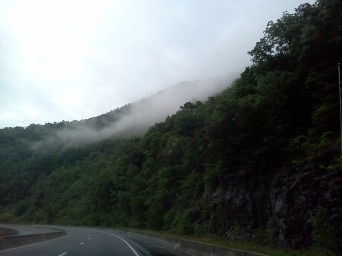 Mist on the Mountain in North Carolina
